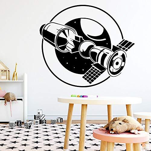 Geiqianjiumai cartoon satellieten muursticker verwijderbare muursticker behang kinderkamer decoratie waterdichte muursticker waterdicht