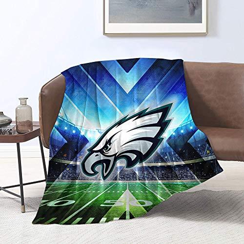 Manta de forro polar de microfibra con diseño de equipo de fútbol americano Philad-elphia-Ea-gles para decoración del hogar, tamaño individual (152,4 x 203,2 cm)