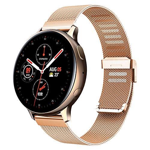 Kobmand Correa de reloj compatible con Samsung Galaxy Watch Active/Active2, pulsera de repuesto con correas de malla para Samsung Galaxy Watch Active / Galaxy Watch Active2 / Gear S2 Classic… (Plata)