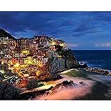 Pintura al óleo de la noche de la ciudad por números para colorear paisaje Diy Kit pintado a mano dibujo de imagen sobre lienzo decoración del hogar A12 50x65cm