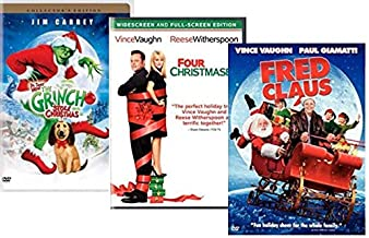 Christmas Movies on DVD 3-Film Set - Dr. Seuss' How the Grinch Stole Christmas/ Four Christmases/ Fred Claus