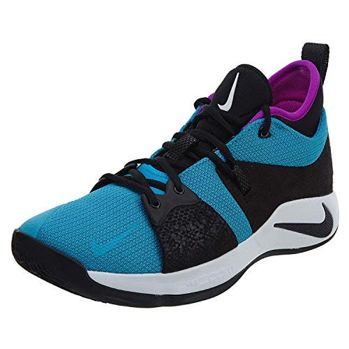 Nike Men's PG 2 Basketball Shoe Blue Lagoon/Black/Violet (11.5 D(M) US)