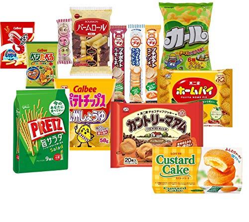 お菓子の詰め合わせ 大量お菓子セットA (カントリーマアム、ホームパイ、カール(チーズ)、プリッツ、カスタードケーキ、バームロール、ポテトチップス(九州しょうゆ)、ベジたべる、かっぱえびせん、プチ3本、もっちゃんだんご)計13個