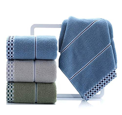 13 x 28 Inches Set of 2 Highly Absorbent Blue-Grey Cleanbear 100/% Cotton Hand Towels