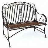 Mediterrane Sitzbank *Pablo* Gartenbank Metall Bank Garten Rostoptik - B117cm