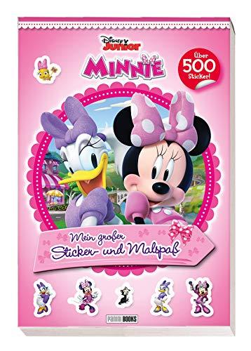 Disney Minnie: Mein großer Sticker- und Malspaß: über 500 Sticker: über 500 Sticker auf 30 Seiten, sowie 30 Seiten mit Ausmalbildern (schwarz-weiß)