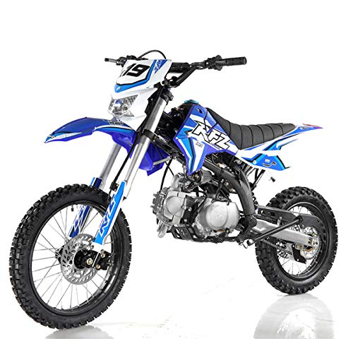 X-PRO 125cc Dirt Bike Pit Bike Adult Dirt Pitbike Gas Dirt Bikes with Headlight 125cc Gas Dirt Pit Bike (Blue)