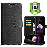 LG K30 Wallet Case,LG Harmony 2 Case,LG K10 2018 Case,LG Phoenix Plus/LG Premier Pro LTE Case,PU Leather Card Slots Flip Cover Lanyard Holster w/Kickstand and HD Screen Protector,Black