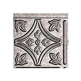 FASÄDE Traditional Style/Pattern 1 Decorative Vinyl Backsplash Panel in Galvanized Steel (6X6 Inch Sample)