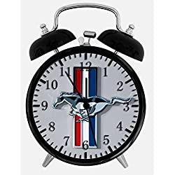 Mustang Twin Bells Alarm Desk Clock 4 Home Office Decor W191 Nice for Gifts