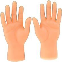 jtxqy Fingerhände, Screepy Halloween Mini Fingerhände Tiny Left Right Hand für Game Party Kostüm (ab 14 Jahren)