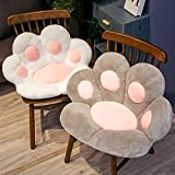 Pink Cushion Long Plush Cat Paw Chair Seat Cushion Back Cushion Comfortable Thick Stool Butt Office Cushion Floor mat, Suitable for Yoga Meditation Living Room Balcony Office Outdoor