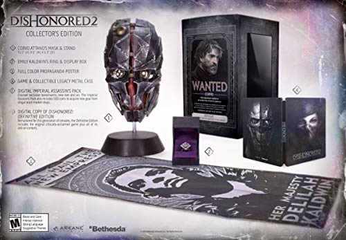 PS4 Dishonored 2 Collector's Edition - PREOWNED