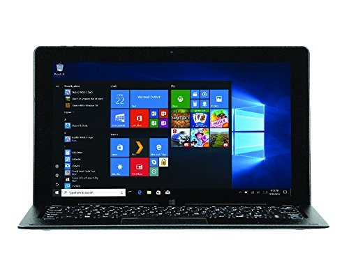 NUVISION 2 in 1 Tablet and Laptop with Windows 10 Home OS, Black, 11.6in (Renewed)