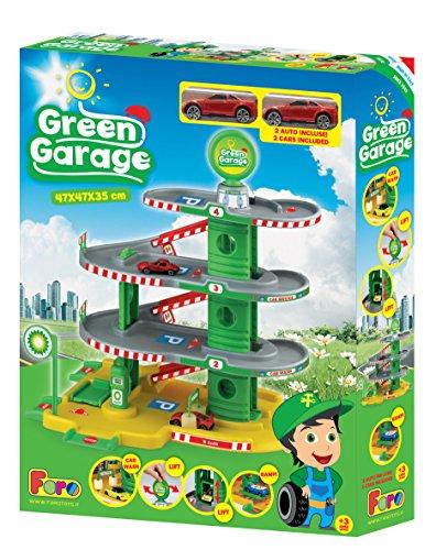 La Nuova Faro - 091815 - Garage Green Écologique De 4 Niveaux avec Ascenseur Et Car Wash - 35 X 47 X 47 Cm