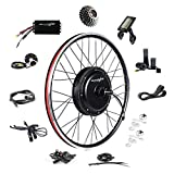 "EBIKELING 48V 1500W 26"" Direct Drive Waterproof Electric Bicycle Rear Wheel Ebike Conversion Kit (Rear/LCD/Twist)"