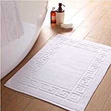 Bed & Bath Deal on Linenwalas 100% Cotton Super Absorbent Terry Bath Mat (Solid White)