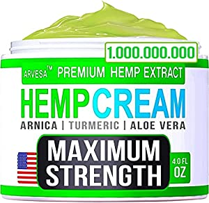 Instant Hemp Cream - Made in USA - Muscle, Foot, Shoulder, Joints and Back - Natural Hemp Oil Extract Gel with Msm - Glucosаminе - Arnica - Turmeric