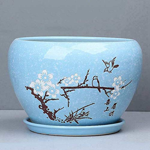 CJH keramische bloempot binnenhuisdecoratie pot rack Small lichtblauw