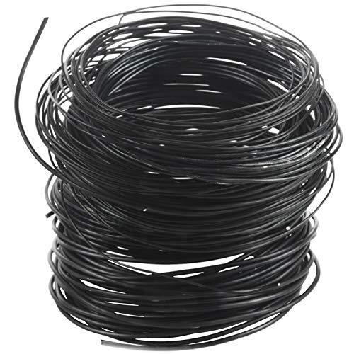 bobotron 9 rollos de alambre para bonsáis, de aluminio anodizado, para entrenamiento de bonsáis, con 3 tamaños (1,0 mm, 1,5 mm, 2,0 mm), longitud total de 147 pies (negro)