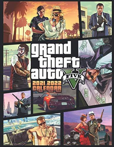 Grand Theft Auto V: 2021 – 2022 Games Calendar – 18 months – High Quality Images