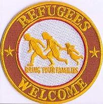 Refugees Welcome Patch 8 x 8 cm von Bienpatch