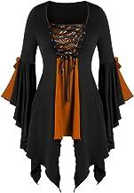 Womens Renaissance Costumes Hooded Robe ce Uper High Low LongDress Halloween Cloak Respctful