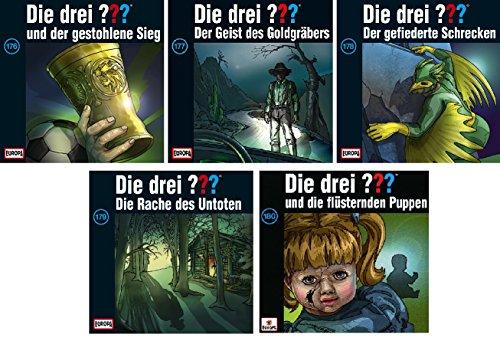 Die Drei ??? (Fragezeichen) - Folge/CD 176-180 im Set - Deutsche Originalware [5 CDs]