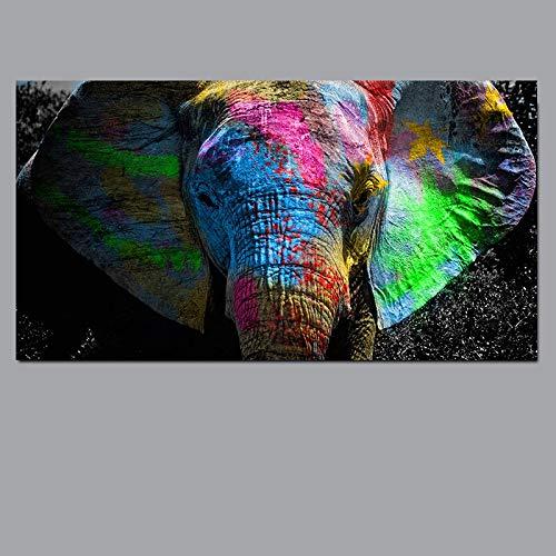hetingyue Elefante Africano Paisaje Animal Pintura al óleo