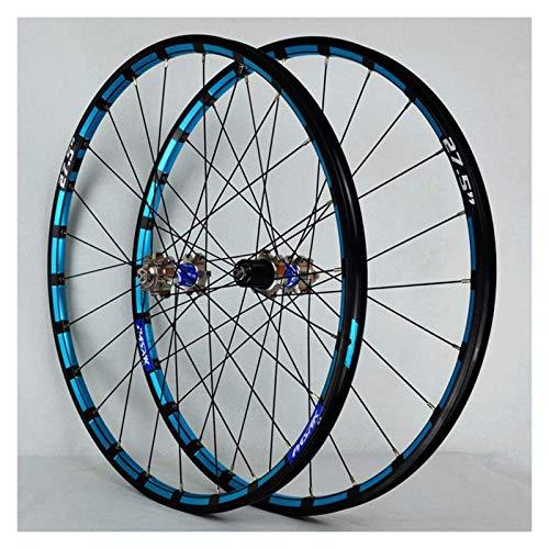 YBNB Ruedas De Ciclismo para 26 27,5 29 Pulgadas Juego De Ruedas De Bicicleta De Montaña Llanta De Aleación Freno De Disco Liberación Rápida 7-12 Velocidad 24H