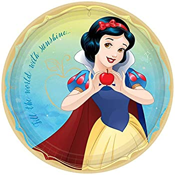 amscan Disney Princess  Snow White Round Party Paper Plates 9  8 Ct One Size  552381