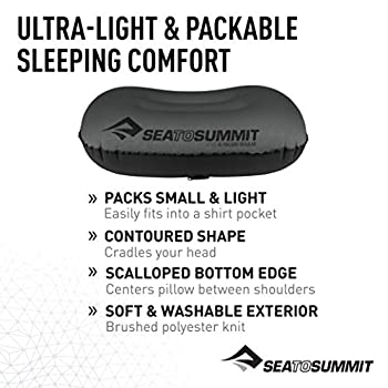 SEA TO SUMMIT Aeros Pillow R Ultralight Oreiller de Montagne, Alpinisme et Trekking, Adultes Unisexe, Gris (Grey), Taille Unique