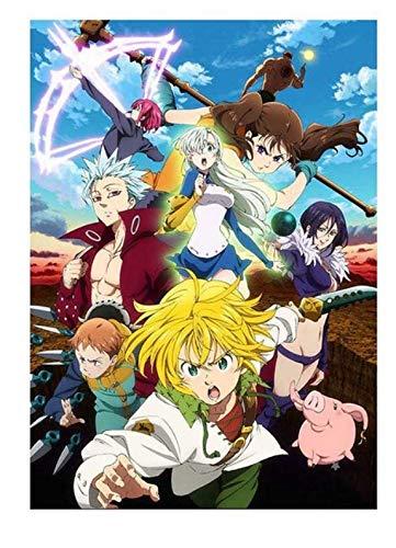 xuyuandass Los Siete Pecados Capitales De Umeda Anime Manga Pintura De Pared Sin Marco 50x60Cm K2189