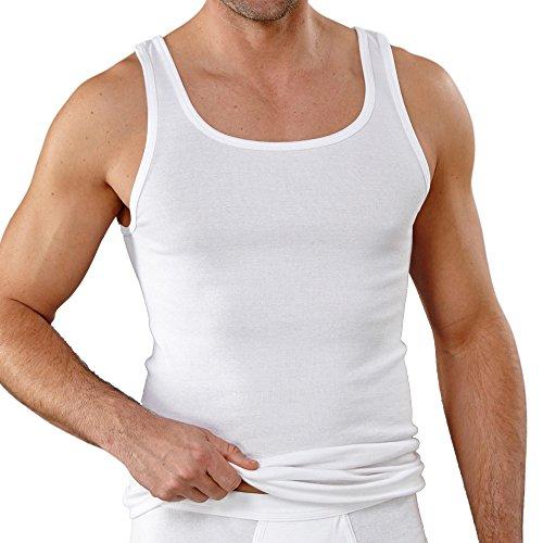 Kumpf Body+Fashion Kumpf 99601011 Herren Unterhemd 2er Pack in Feinripp-Qualität aus Bio-Baumwolle, Groesse 6, 2X weiß