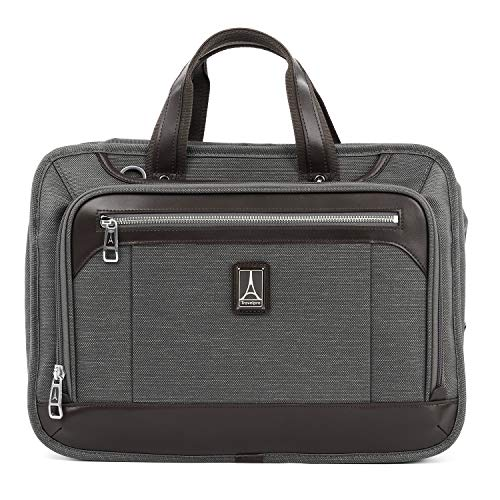 Travelpro Luggage Platinum Elite 16' Expandable Business Briefcase, Vintage Grey, One Size
