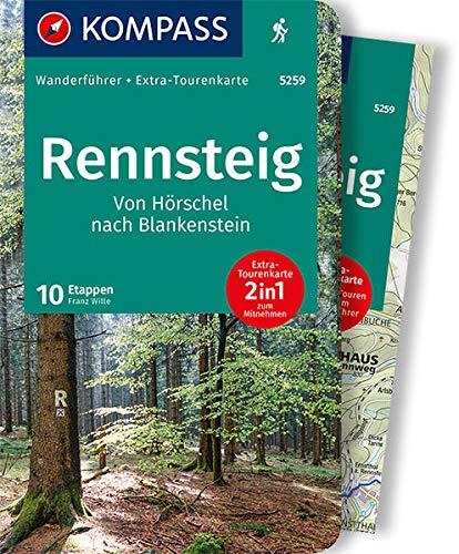 Rennsteig: Wanderführer mit Tourenkarten und Höhenprofilen: 5259