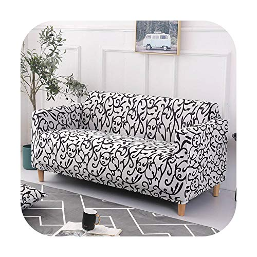 sofa cover Elastic Spandex Tight Wrap All-inclusive Couch Covers for Living Room Sectional Love Seat Patio Furniture-Color 22-4-seater 235-300cm