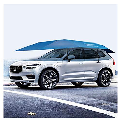 LIXIONG Auto-Zelt Regenschirm Draussen Halbautomatisch Carport Autos Schutz Überdachung Tragbar Beweglich Isolierung Sonnenschutz,2 Farbe (Color : Blue, Size : 4.3x2.3m)