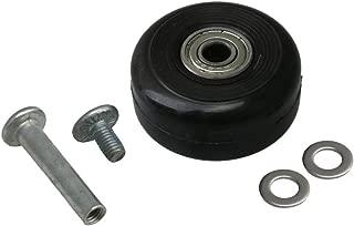 Mxfans Luggage Wheels Universal Wheels Replacement PU Wheels Black 40x18mm