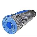 Leoie Esterilla de yoga antideslizante para actividades en interiores para yoga, pilates, al aire libre, almohadilla de entrenamiento de fitness, manta de picnic, azul, 180 x 50 x 0,6 cm