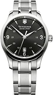 Alliance Black Dial Stainless Steel Mens Watch 241473XG (Renewed)