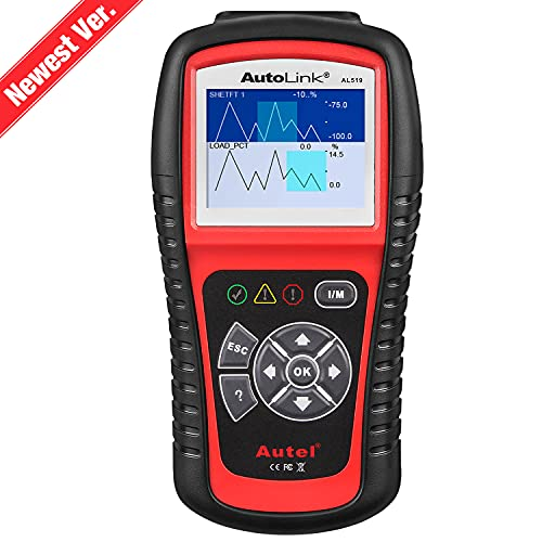 Autel AutoLink AL519 OBD2 Scanner Enhanced Mode 6 Check Engine Code Reader, Universal Car Diagnostic Tool with One-Click Smog Check, DTC Breaker, Upgraded...