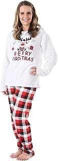 🎁 Merry Christmas Holiday Family Matching Pajamas Reindeer Classic Plaid Pajama PJ Sets
