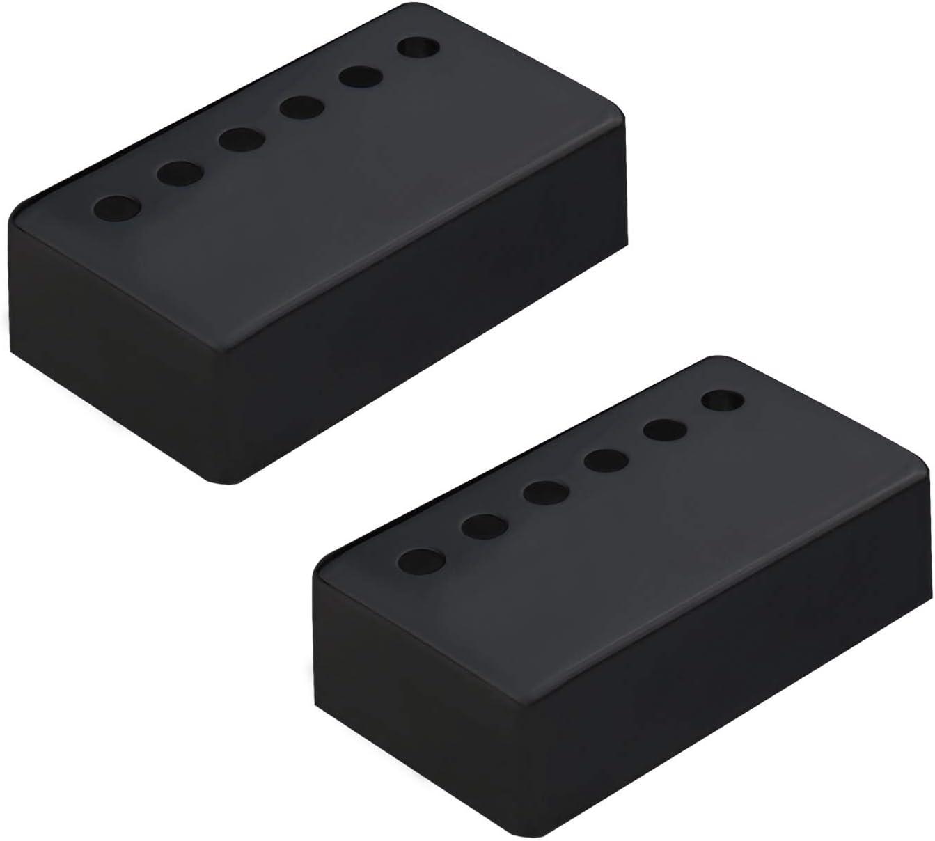 Negro Guitarras Humbucker cuello y puente Pickup Tapas Set 2 unids 50mm 52mm poste espaciado 6 agujeros diseño para Guitarras eléctricas piezas