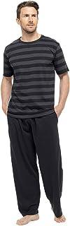 Mens T-Shirt Striped Top & Long Trousers Nightwear Pyjamas Lounge Wear