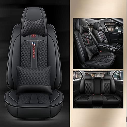 SUNQQJ Coprisedili Auto Universale per Suzuki Swift Jimny Vitara Swift Grand Vitara Fiat 500 Punto 500L 500X Coprisedile Auto Accessori, Lusso nero