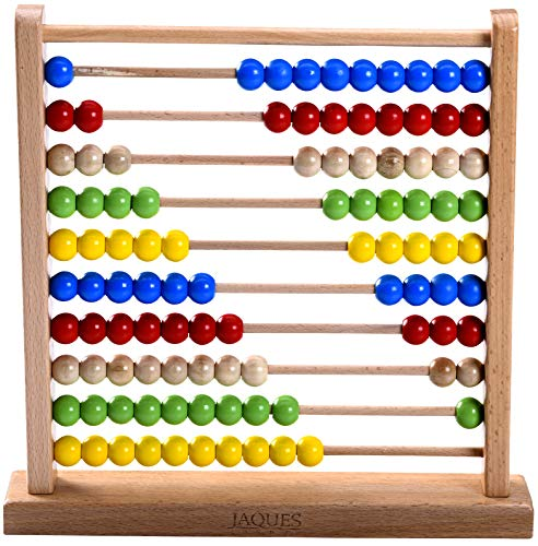 Jaques of London Abacus – Wooden Abacus makes a great Educational Toys and Perfect Toddler Toys. Jaques London– Suitable Toys for 1 2 3 year olds boys and girls.