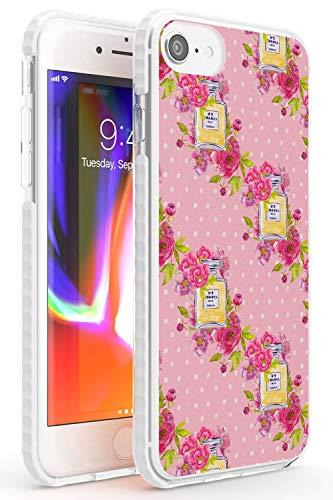 Case Warehouse El Estilo es Siempre Patrón Perfume Impact Funda para iPhone 7 Plus TPU Protector Ligero Phone Protectora con Floral Tendencia Moda Diseñador