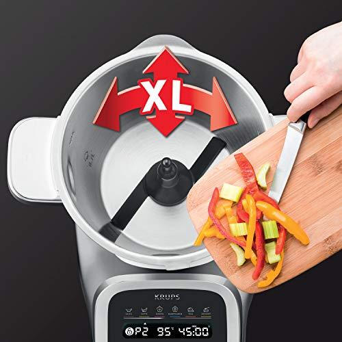 Krups HP50A8 Prep&Cook XL Robot de cuisine multifonction en acier inoxydable 3 l Blanc/noir