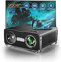 Beamer,YABER 8500 Lumen WiFi Bluetooth Beamer 1080P Full HD Beamer,mit 4Punkt Trapezkorrektur,4K 300'' Display Tragbarer...